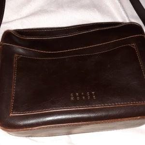 Crazy Horse brown crossbody purse size small